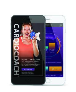 cardio coach app on phone