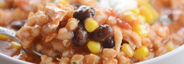 Southwestern Chicken Barley Chili recipe