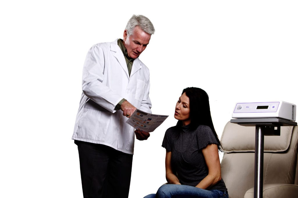 doctor giving patient instructions