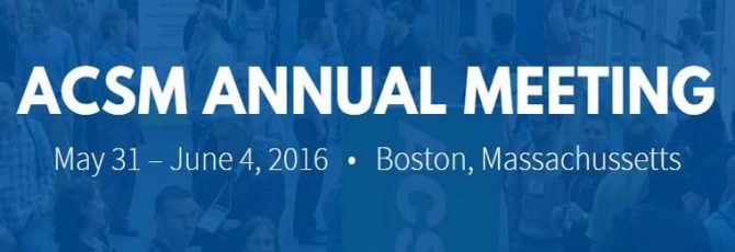 ACSM 2016 Annual Meeting