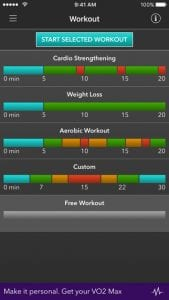 work out results on app