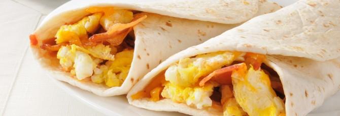 Bacon And Egg Burritos