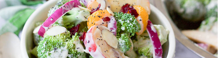 fruit and vegetable salad with poppyseed dressing