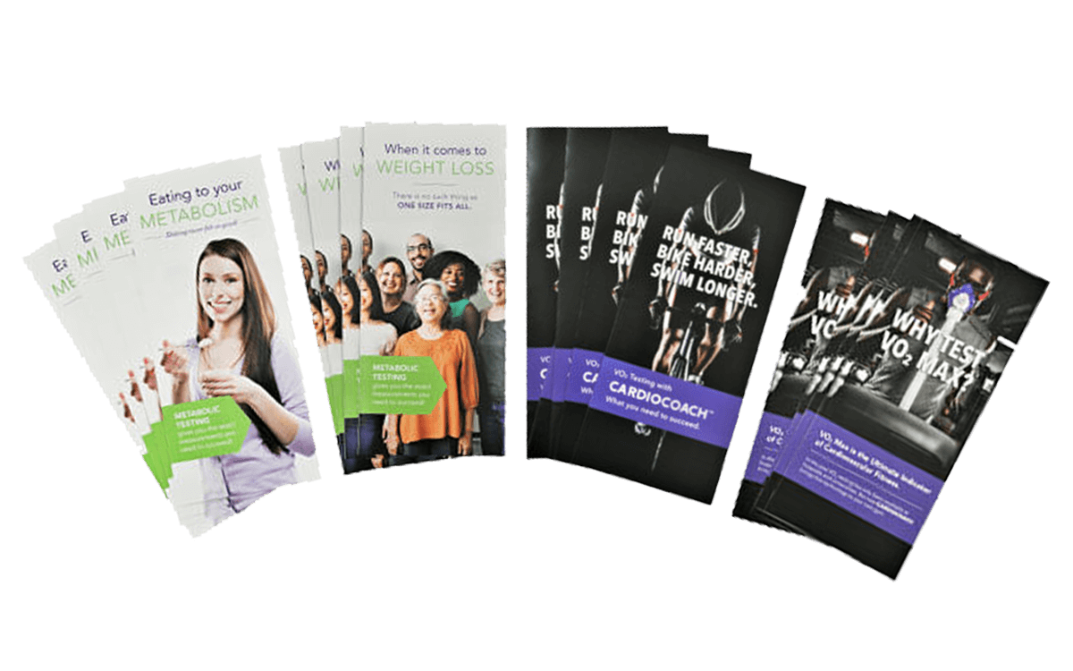 cardio and weight loss printed materials
